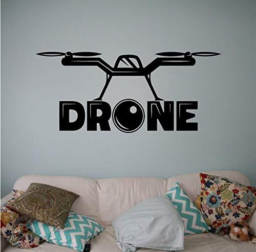 mera Wand Vinyl Aufkleber Air Drone Aufkleber Aircraft Home Art Decor Ideen Innen Kinderzimmer Design 58X25 Cm ()