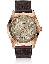 GUESS Herren-Armbanduhr Breaker Analog Quarz Leder W0597G1