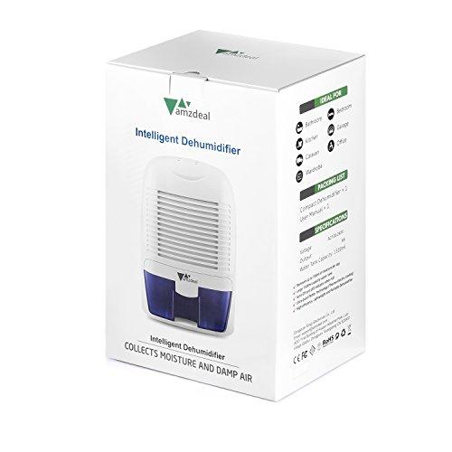 Amzdeal Luftentfeuchter 700ml/24h | Raumentfeuchter gegen Feuchtigkeit - 7