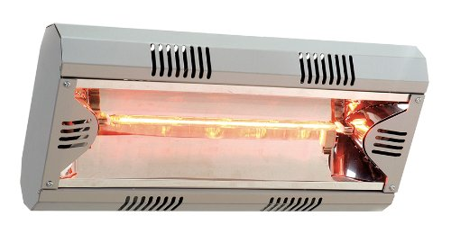 Mo-El Infrared Space Heater Hathor 2000, silver, 2000 Watt