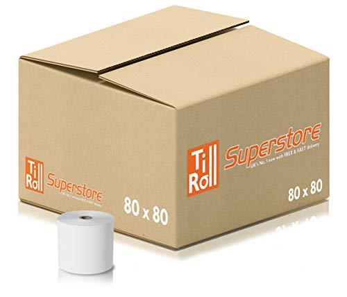 For Worldpay,... EPOSGEAR® 20 Rolls of 57 x 40 mm Thermal PDQ Receipt Paper