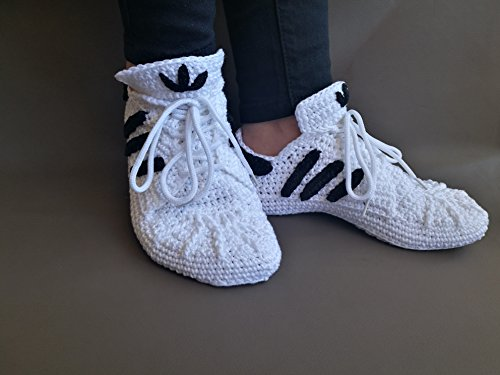 CROCHET PATTERN ADIDAS Superstar-Adult woman-man-Us sizes:5-13-unisex sneakers-Pdf pattern