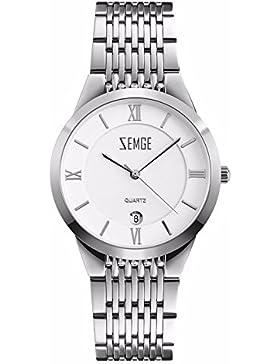 ZEMGE Damenuhr Quarz Analog Datum Wasserdichte Armbanduhr Unisex Business Casual Einfache klassische Design Kleid...