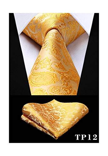Grüne Gesponnene Krawatte (Sunonip Klassisches Krawatten-Taschentuch-Satz-Grün 8,5 Cm Silk gesponnenes Mann-Geschenk-Krawatten-Party-Hochzeits-Einstecktuch)