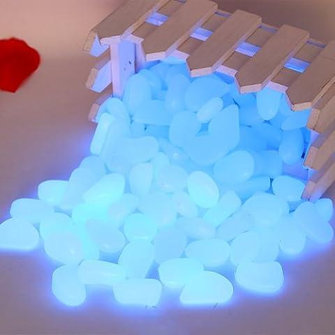 Lot de 100 pierres lumineuses pour éclairage de nuit, galets