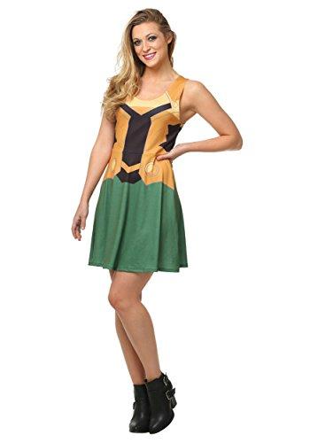 Her Universe Marvel Loki A-Line Fancy Dress Costume Dress X-Large