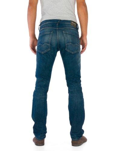 Replay - Jeans Droit - Homme Bleu (Blue Denim)