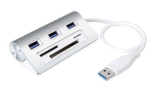 Alcey Aluminio Combo Concentrador 3 Puertos USB 3.0