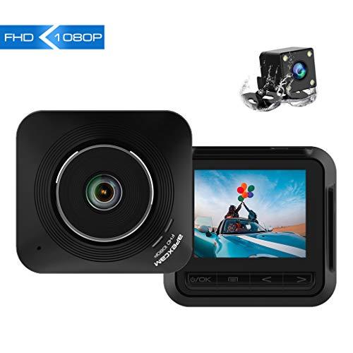 Apexcam Dashcam Front und Rück Lens Fahr Recorder 2.2