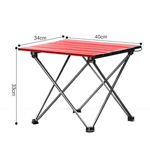Ldwxxx Klapptisch Camping Picknick Aluminium Klapptisch Selbstfahrende Tour Grill Ultraleicht Tragbarer Tisch (Farbe : Blau) -