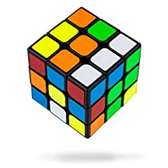 Idea Regalo - Buself Cubo di 3x3 Magico Originale Speedcube - Idea Regalo per Natale Compleanno Aziendale