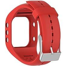Silicona reloj banda correa de repuesto Flexible longitud ajustable pulsera Fitness para Polar A300reloj inteligente, rojo