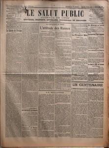 SALUT PUBLIC (LE) du 30-04-1922 LA RANCON DU PRESTIGE PAR LOUIS MADELIN - UNE INTERVIEW DE L'EX-KRONPRINZ - L'ESPAGNE AU MAROC - LA CONFERENCE DE GENES - L'ATTITUDE DES RUSSES - LE TRAITE DE RAPALLO - LA SITUATION - LE PREMIER MAI - M MILLERAND EN TUNISIE - LES NEGOCIATIONS FRANCO-ESPAGNOLES - LES JAPONAIS EN SIBERIE - LA GUERRE CIVILE EN IRLANDE - UN CENTENAIRE - LA FONDATRICE DE LA PROPAGATION DE LA FO