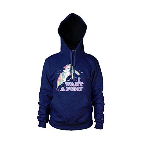 MLP - I Want A Pony Kapuzenpullover (Marineblau), XX-Large