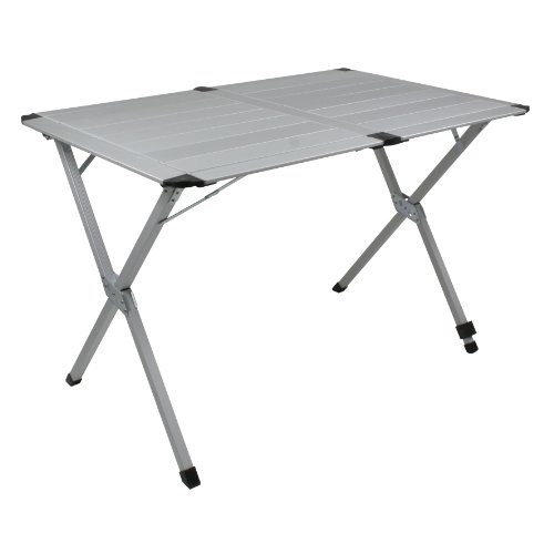 10T aluTAB Double Table camping Argent 110 x 72 x 70 cm