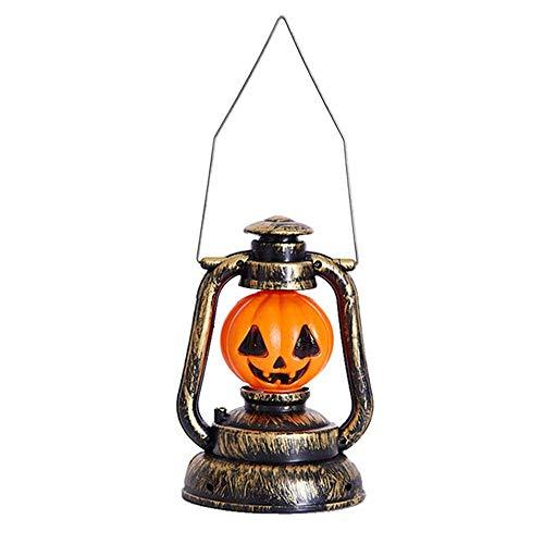 YP Halloween Dekorationen, Hörbar Glühende Skelett Lichter Kürbis Lichternacht Lichter Geister Lichter Kerosin Laternen Requisiten, Halloween-Lichter (Kürbis Lampen)