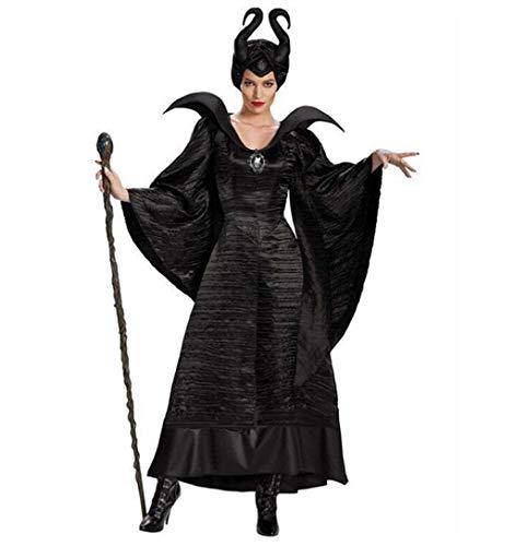Märchen Kostüm Feuer - MSSugar Hexe märchen Cosplay Dress Cosplay kostüm Hut Party kostüm Erwachsene Frauen Weihnachten Halloween Karneval Festival,M