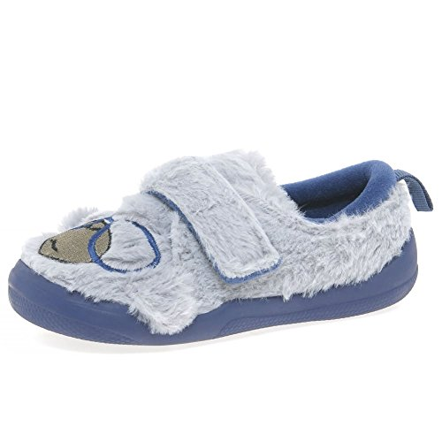 Clarks Cuba Chico Inf Boys Slippers 11 G Grey Synthetic