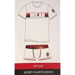 Dessous Erwachsene Herren A.C. Milan Boxer und T-Shirt Offizielle Milan (M) weiß