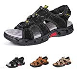 gracosy Mens Summer Sandals Lightweight Non-Slip Hiking Trekking Walking Sandals Shoes Athletic Outdoor