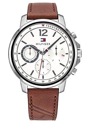 Tommy Hilfiger Reloj Multiesfera para Hombre de Cuarzo con Correa en Cuero 1791531
