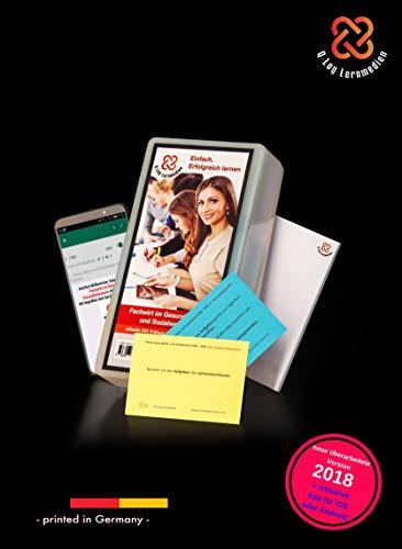 Lernkarten (662 Stück, gedruckt A7) + App + Box für den Fachwirt im Gesundheits- und Sozialwesen | Auflage 2018 | Komplettsatz mit allen 6 Fächern