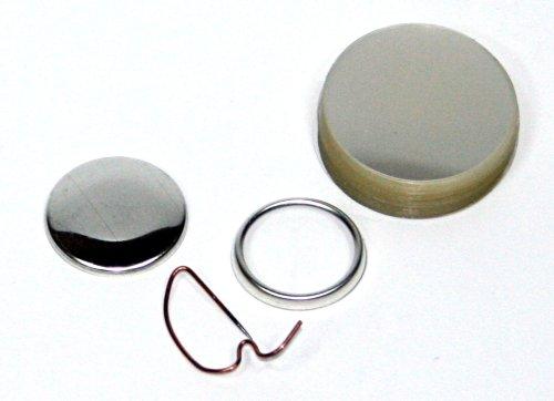 Button Rohlinge 25mm mit Bogennadel 1000er-Pack