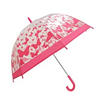 Womens/Ladies Clear Butterfly/Dragonfly Pattern Walking Umbrella