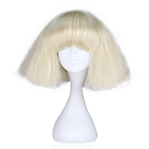 Miss U Hair Mädchen Kurz Kinky gerade flauschig Perücke Fashion Party Haar Cosplay Party Perücke