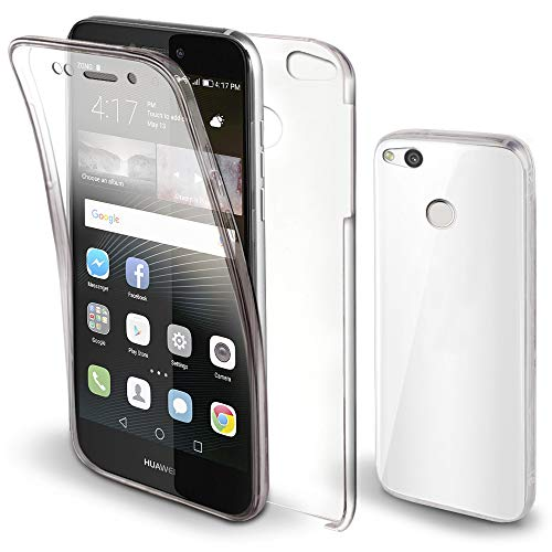 Moozy Funda 360 Grados Huawei P8 Lite 2017 Transparente