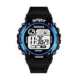 TAOtTAO Digital-LED analoge Quarz-Warnungs-Datums-Sport-Armbanduhr der Mode-Männer (Blau)