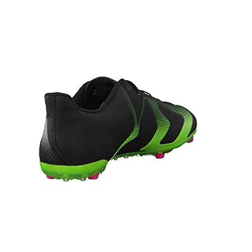 adidas Ace 16+ Tkrz, Chaussures de Foot Homme, 42 EU Noir / vert (noir essentiel / nuit métallique / vert solaire)