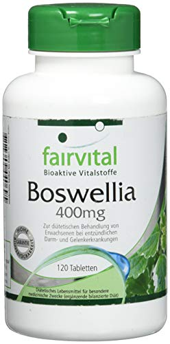 Boswellia frankincense 400mg - 120 tablets for 2 months - VEGAN - Boswellia serrata - 65% boswellic acids