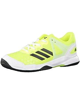 adidas Jungen Court Stabil J Niedrige Sneaker, Jaune Fluo/Noir/Vert Fluo