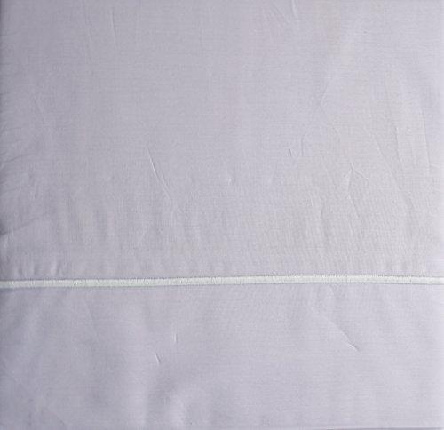Metallic Stripe Bettwäsche (Maurizio Italien Betten 4Stück Baumwolle Queen-Bettlaken-Set massiv Medium grau mit einem erhöhten bestickt Metallic Gray Stripe Hemline)