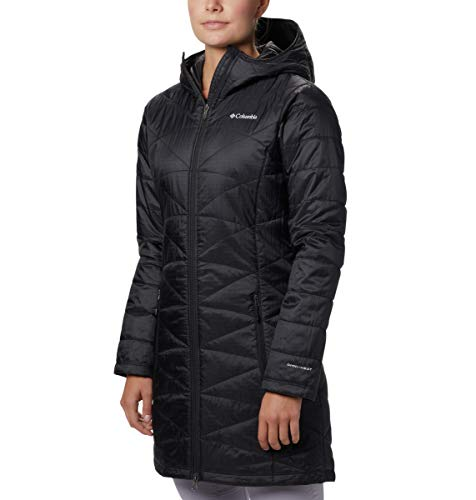 Columbia Damen Plus Größe Mighty Lite Kapuzenjacke, Damen, schwarz (Plus Winter Größe Mantel Columbia)