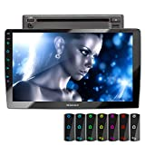 XOMAX XM-2D1006 Autoradio con mirrorlink, LED Colori di illuminazione, vivavoce bluetooth, schermo touch screen 10,1 pollici / 25,7 cm, RDS, DVD, SD, USB, 2 DIN