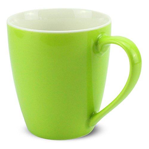 matches21 Tassen Becher Kaffeetassen Kaffeebecher Unifarben / einfarbig kiwi-grün hellgrün...