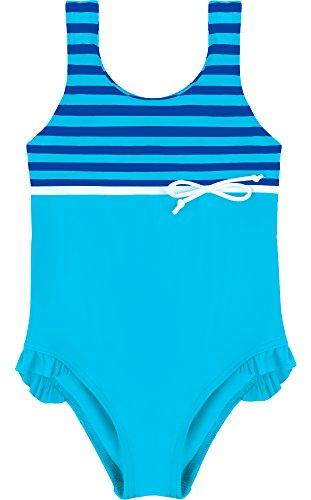 Merry Style Mädchen Badeanzug MSVRKind2 (Blau/Kornblumen, (Kostüm Badeanzug Einteilige)