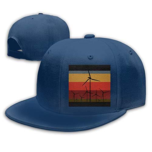 DAIAII Herren Baseball Caps,Hüte, Mützen, Classic Baseball Cap, Wind Turbines Vintage Style Unisex Adjustable Plain Baseball Cap Hip Hop Hats -