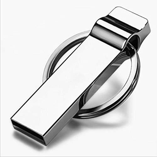 LAY USB-Stick USB-Stick 16 GB 32 GB 64 GB 128 GB wasserdichter USB-Stick mit Schlüsselbund Memory Stick Laufwerke u Festplatte,White,128GB - Usb-laufwerk Schlüsselbund