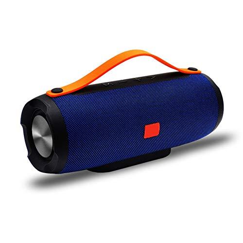 YSCYLY Drahtlose Bluetooth Lautsprecher Musik Spalte Tragbare Bass TF FM Radio Subwoofer 10 Watt Große Power MP3 Player Sound Box PC Telefon Boombox,Blue