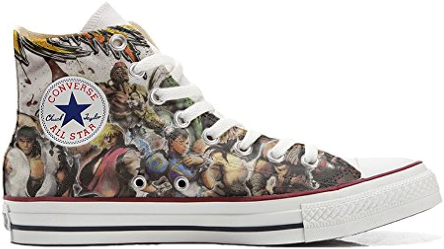 Converse All Star zapatos personalizados (Producto Artesano) The fighters  -