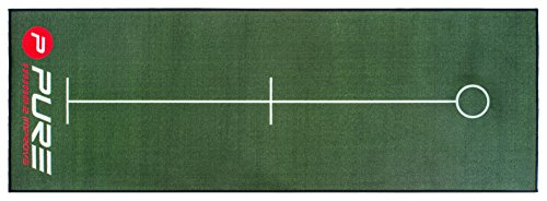 Pure2Improve Herren Original Golf Puttingmatte, Grün, 5 m x 65 cm