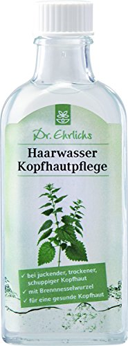 Dr. Ehrlichs HAARWASSER Kopfhautpflege 100ml Tonikum mit Brennnessel für Männer und Frauen mit juckender trockener Kopfhaut - NATÜRLICHE Inhaltsstoffe - Bewahren Sie einen KÜHLEN KOPF !