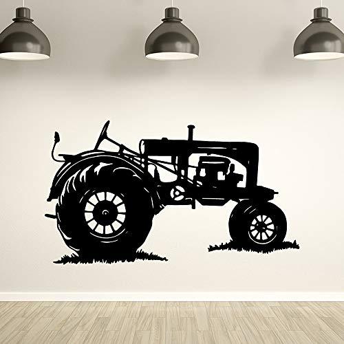 zqyjhkou Klassische Traktor Wandaufkleber Steuern Dekor Für Jungen Zimmer Aufkleber Schlafzimmer Wandtattoo Removable Home Decoration Tapete XL 58 cm X 102 cm