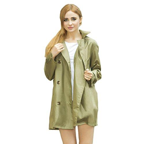 Dopobo® Imperméable mode , élégant Veste Imperméable de pluie Vêtements Pour Fille Femme Damme Vert