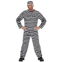 206d4db2 CONVICT COSTUME SIZE: (M) COLOR: black/white (coat pants hat