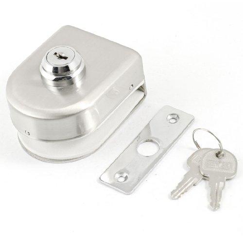 Silberfarben Schlüssel Vitrine Schrank Zusatzschloss für 12 mm Scharnier Glastüren
