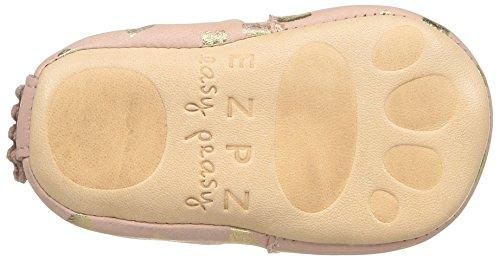 Easy Peasy Blumoo Lovely, Chaussures de Naissance Bébé Fille Rose (Guimauve/Or)